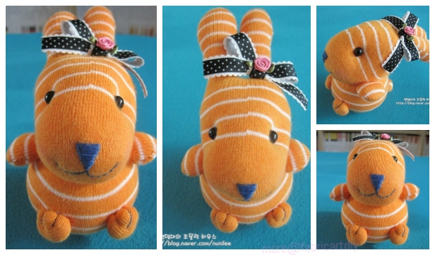 DIY Easter Sock Bunny Free Sew Patterns & Tutorials