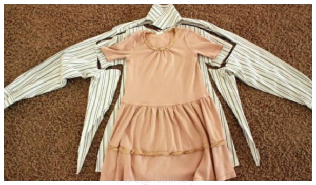 Easy DIY Repurposed Girl Dress From Shirts Free Sew Pattern & Tutorial