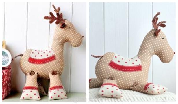 DIY Roger Reindeer Free Sew Pattern & Tutorial