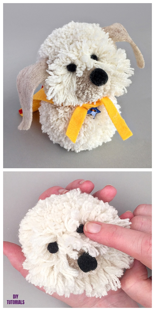 DIY Shaggy Pom Pom Dog Tutorial