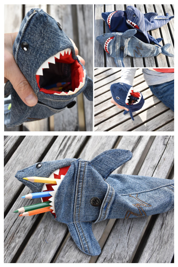 DIY Shark Pencil Case Free Sew Pattern & Tutorial
