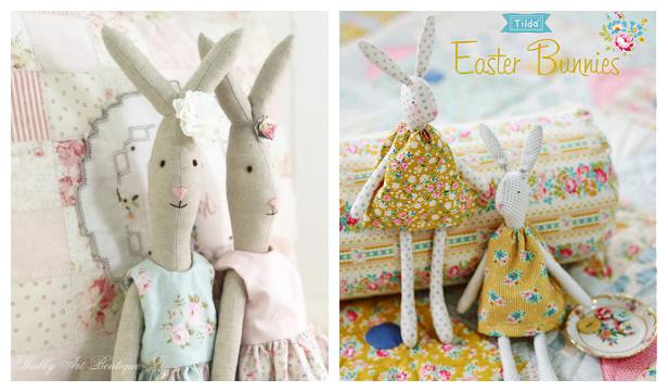 DIY Vintage Easter Bunny Free Sewing Patterns & TutorialsFree Sewing Patterns f