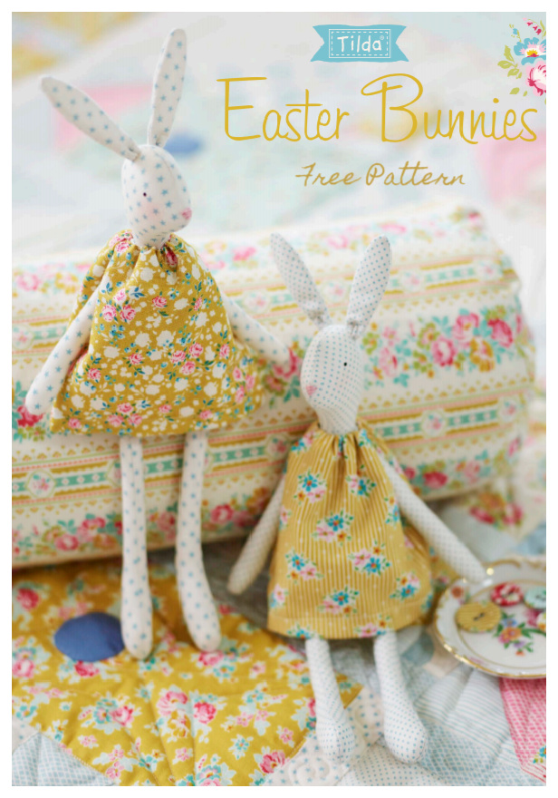 DIY Vintage Easter Bunny Free Sewing Patterns & Tutorials