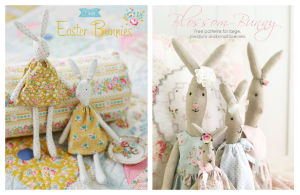 DIY Vintage Easter Bunny Free Sewing Patterns & TutorialsFree Sewing Patterns ft