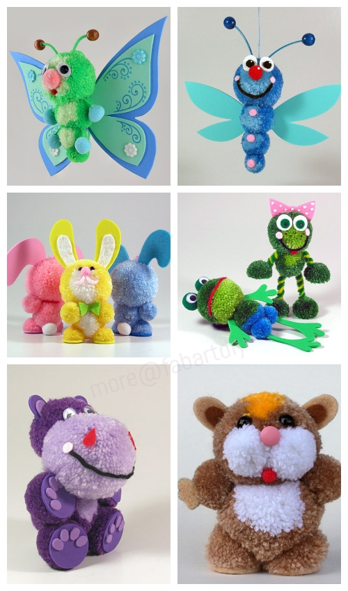 DIY Yarn Pom Pom Animals Inspirations