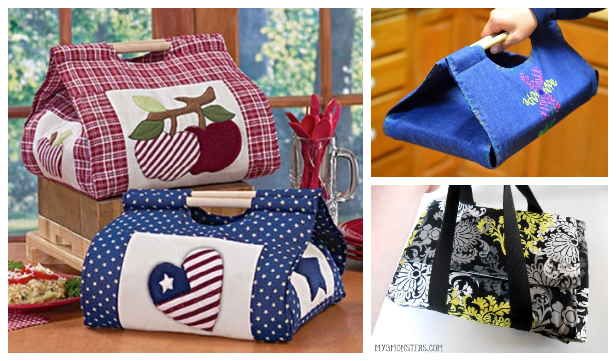 DIY Fabric Convenient Casserole Carrier Free Sewing Patterns