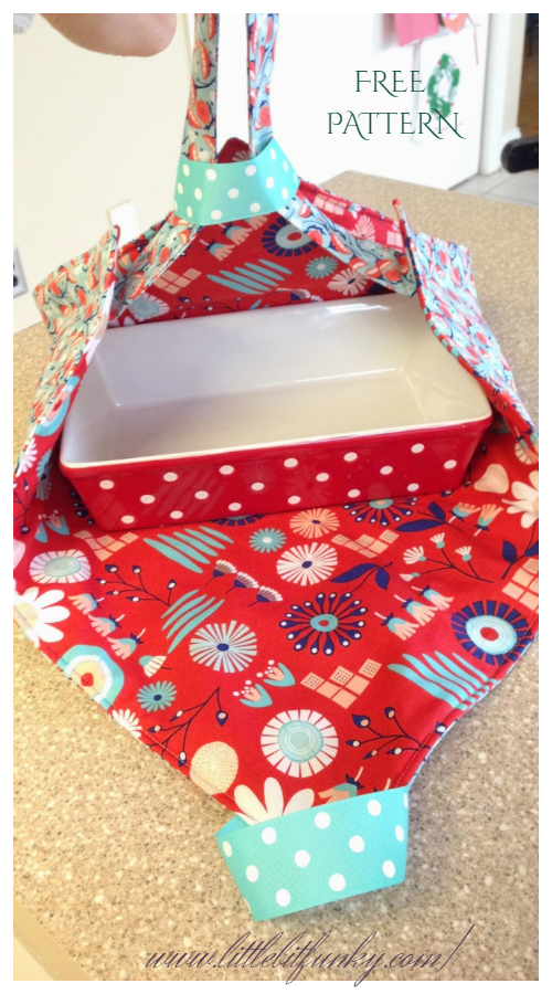 DIY Fabric Casserole Carrier Free Sewing Patterns