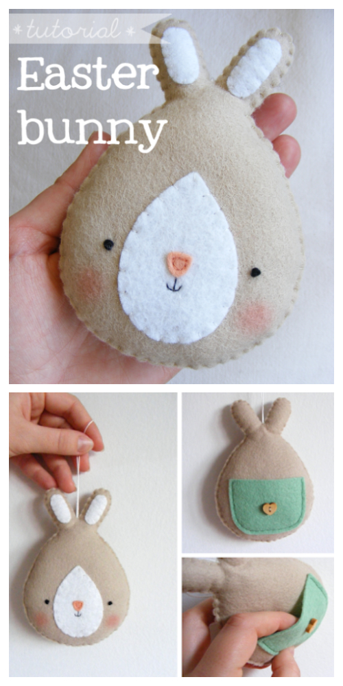 DIY Felt Easter Bunny Free Sew Patterns & Paid