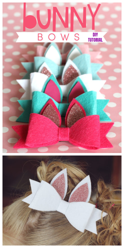 Felt Easter Bunny Bows DIY Tutorial