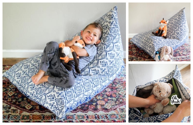 DIY Reading/Knitting Pillow Free Sewing Pattern & Tutorial