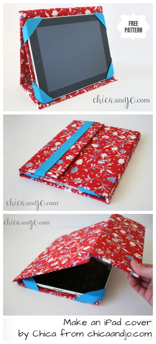 DIY iPad Cover Stand Case Free Sewing Pattern