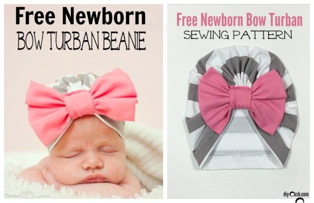 DIY Ins Baby Bow Turban Hat Free Sewing Patterns + Video