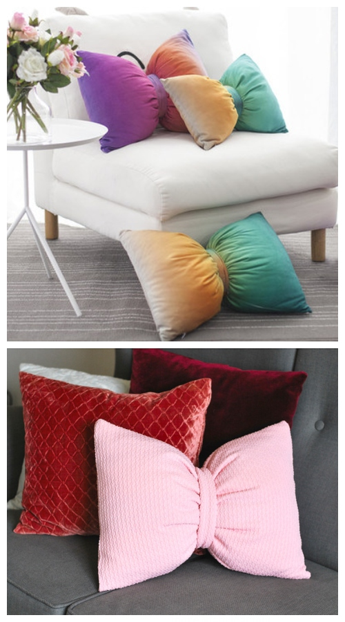 DIY Bow Pillow Free Sewing Patterns + Video