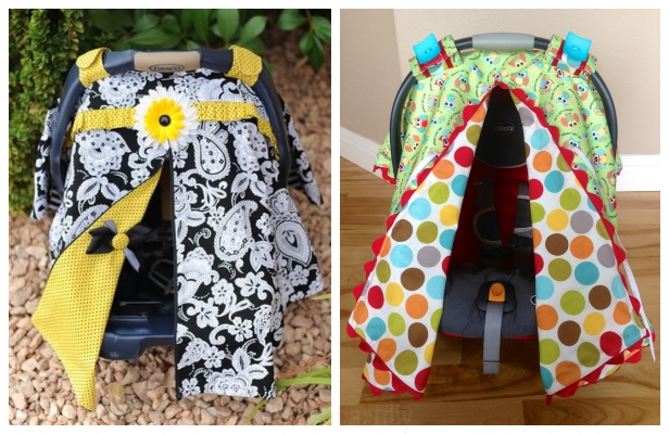 DIY Car Seat Canopy Free Sewing Pattern & Tutorial