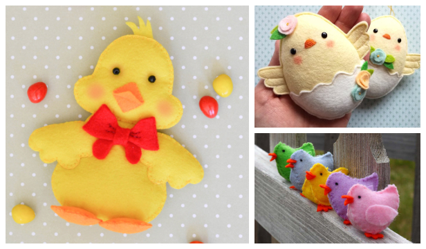 DIY Easter Felt Chicks Free Sewing Patterns & Paid