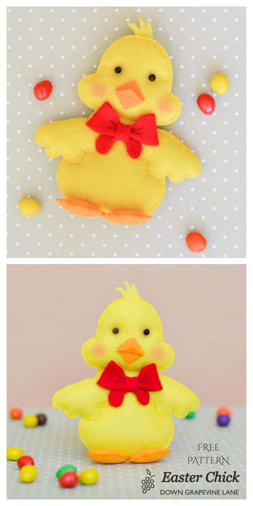 DIY Easter Felt Chicks Free Sewing Pattern & Tutorial