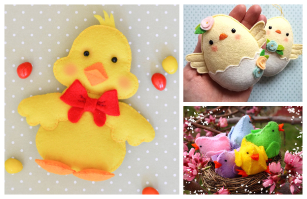 DIY Easter Felt Bay Chicks Free Sewing Pattern & Tutorial
