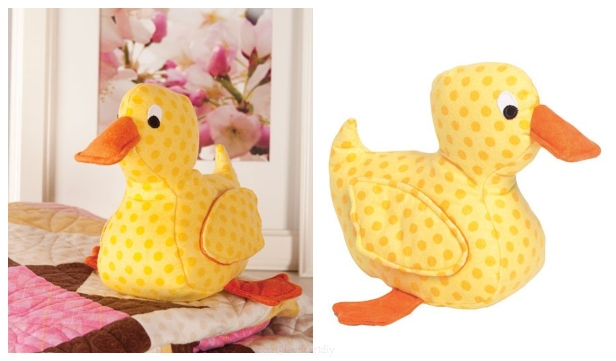 DIY Fabric Duck Toy Free Sewing Pattern & Tutorial