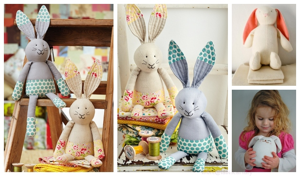 DIY Fabric Easter Bunny Free Sewing Patterns & Tutorial