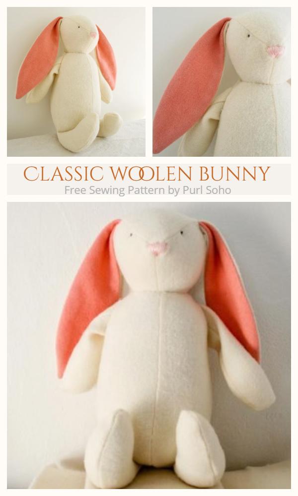 DIY Fabric Mooshy Belly Bunny Free Sewing Pattern & Tutorial