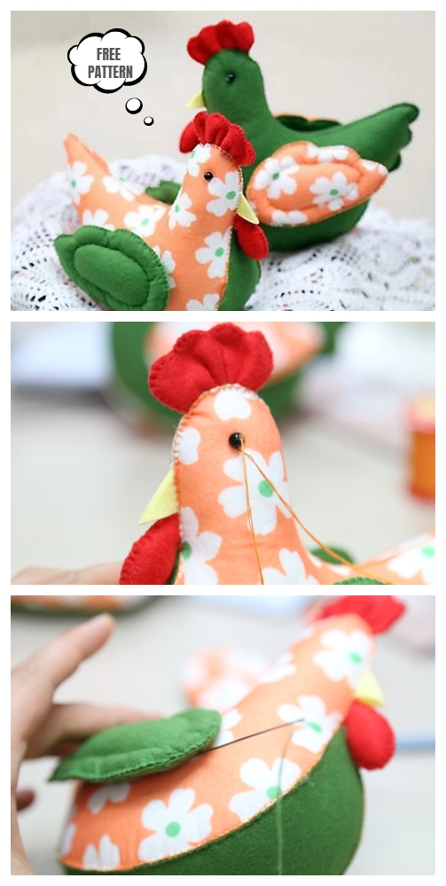 DIY Felt Easter Chick Free Sewing Pattern with Template