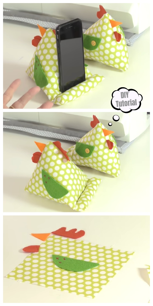 DIY Chicken IPAD Stand Free Sewing Pattern + Video