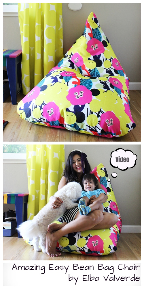 DIY Kids Bean Bag Chair Free Sewing Pattern & Video Tutorial