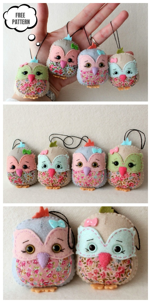 DIY Little Felt Owl Sachet Free Sewing Pattern & Tutorial
