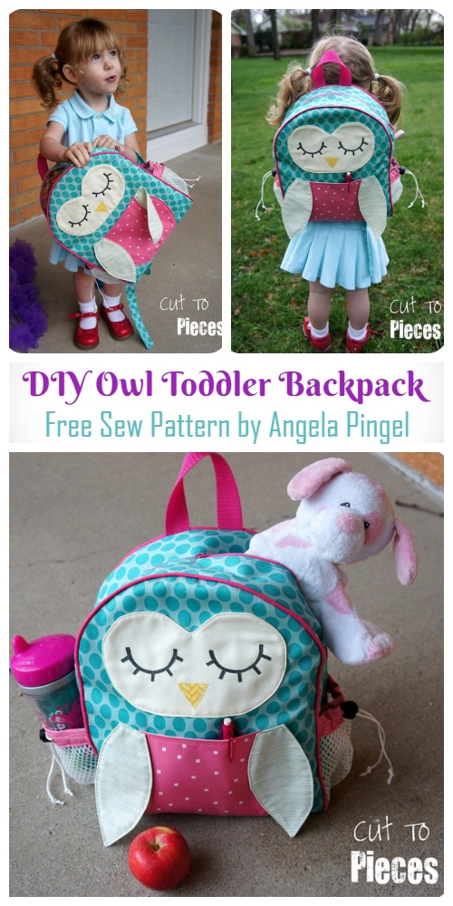 DIY Owl Toddler Backpack Free Sewing Pattern & Tutorial