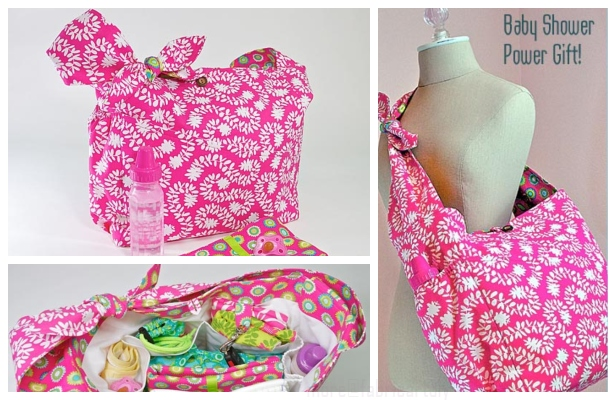 DIY Quick Trip Diaper Bag Free Sewing Pattern