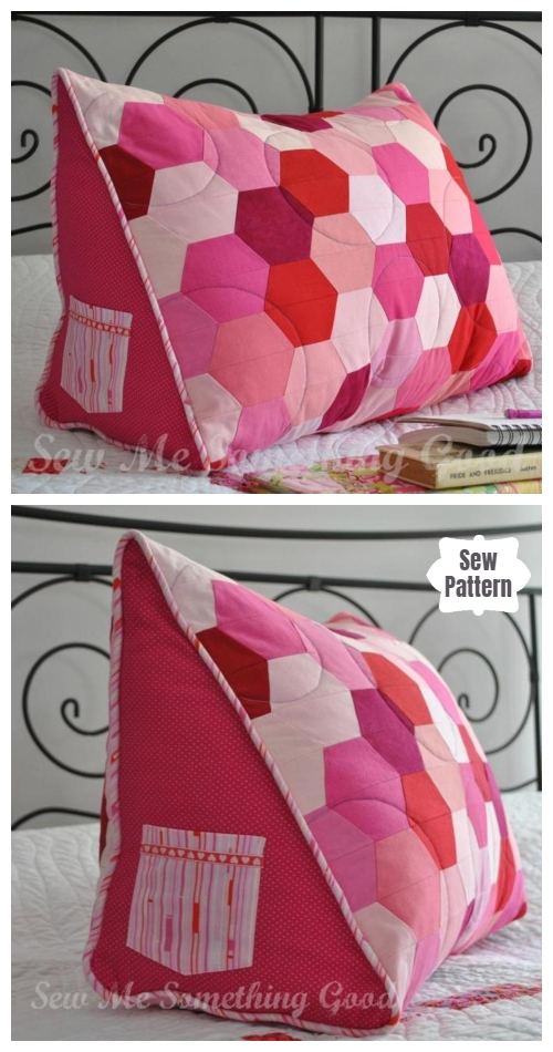 DIY Triple Hex Reading Pillow Sewing Pattern & Tutorial