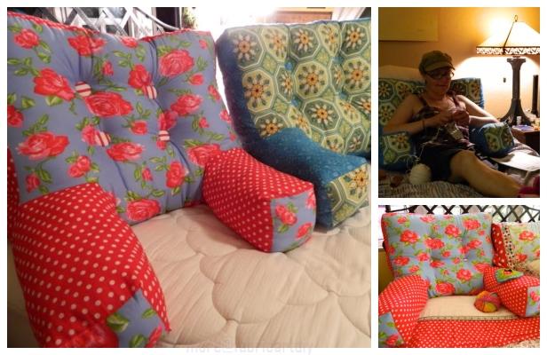 DIY Reading/Knitting Pillow Free Sewing Pattern & Tutorial