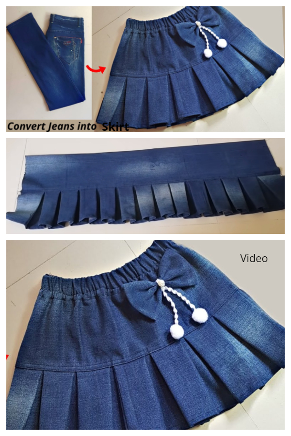 Creative Ways to Repurpose Old Jeans into Jean Skirts