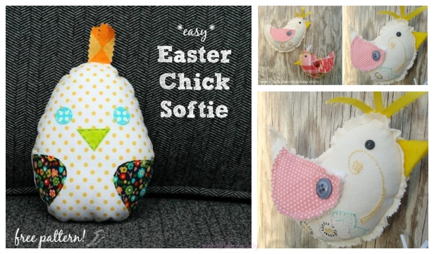 DIY Spring Easter Chick Free Sewing Pattern