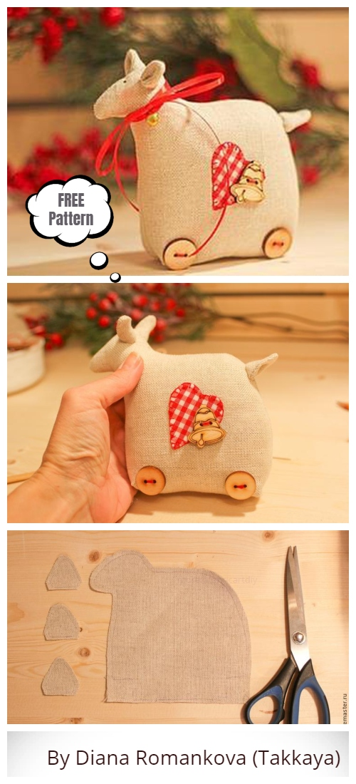 DIY Tilta Sheep Toy Free Sewing Pattern & Tutorial