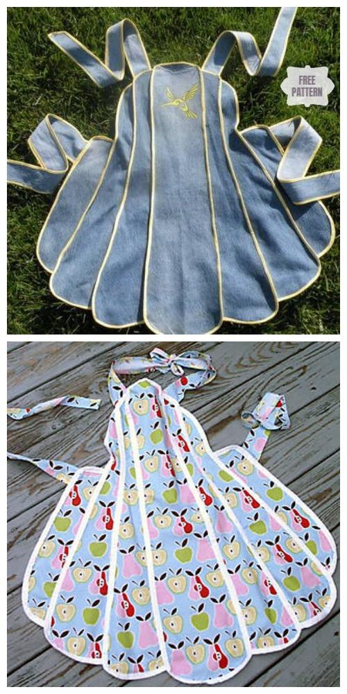 DIY Vintage Apron Free Sewing Pattern & Tutorial