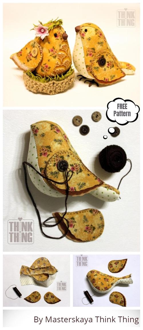 DIY Vintage Spring Bird Free Sewing Pattern & Tutorial