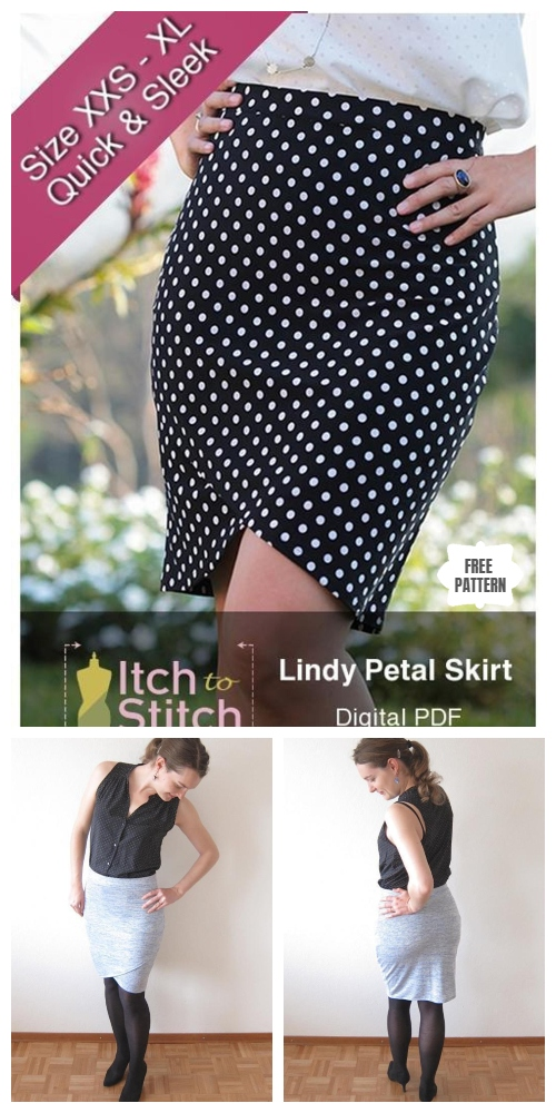 DIY Women Lindy Petal Skirt Free Sewing Pattern & Tutorial