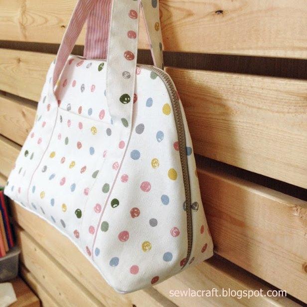 DIY Zipper Handbag Free Sewing Pattern