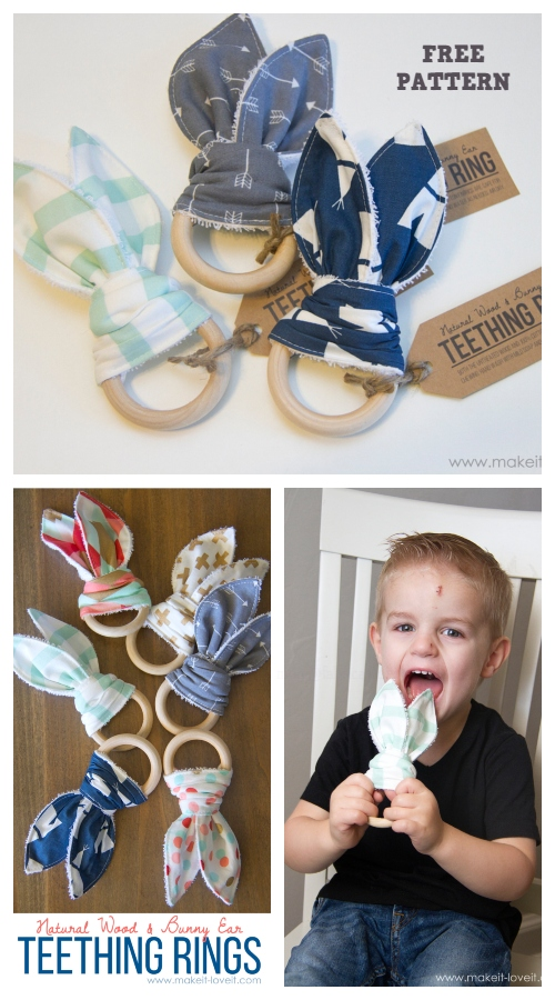 Easter Bunny Ear Teething Ring Free Sewing Pattern