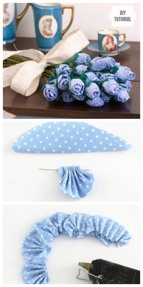 Easy Fabric Rose Bouquet DIY Tutorials