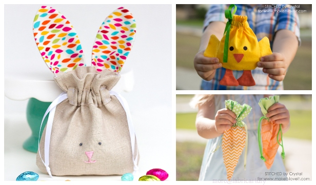 Fun Easter Drawstring Treat Bag Free Sew Patterns