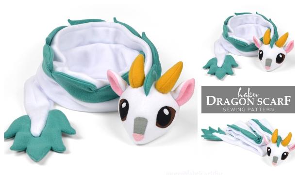 Kids Haku Dragon Scarf Free Sewing Pattern
