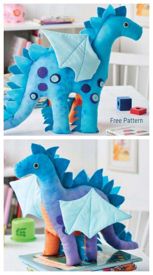 DIY Nigel the Dragon Toy Free Sewing Pattern & Tutorial