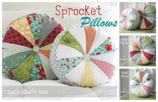 DIY Sprocket Pillows Free Sewing Pattern & Tutorial