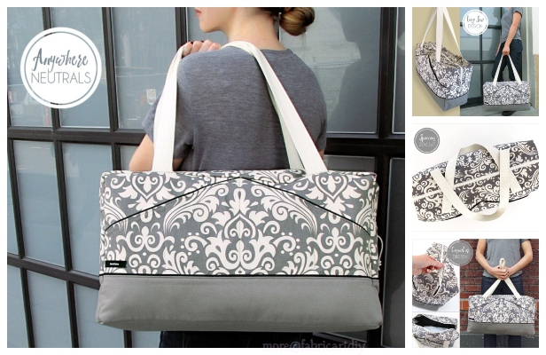 The Perfect Damask Duffle Bag Free Sewing Pattern