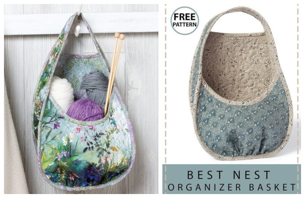 DIY Best Nest Organizer Basket Free Sewing Pattern + Video