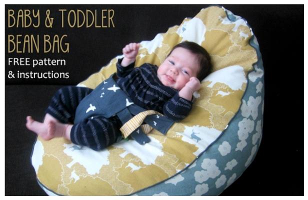 DIY Baby Toddler Bean Bag Free Sewing Pattern & Tutorial