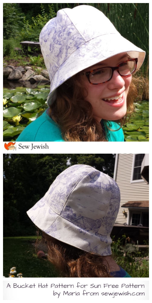 DIY Adult Bucket Sun Hat Free Sewing Pattern