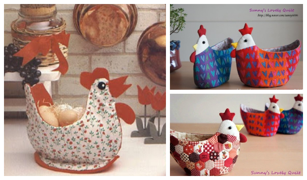 DIY Easter Chicken Egg Holder/Basket Free Sewing Patterns